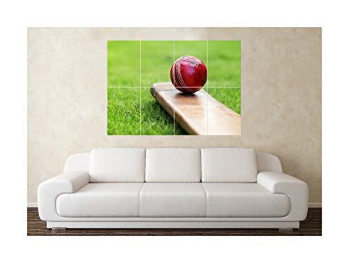 Große Cricket Bat Ball Sport Wand Poster Kunstdruck Bild