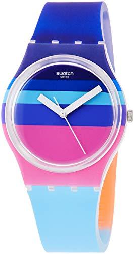 Swatch Reloj Analógico para Hombre de Cuarzo con Correa en Silicona GE260