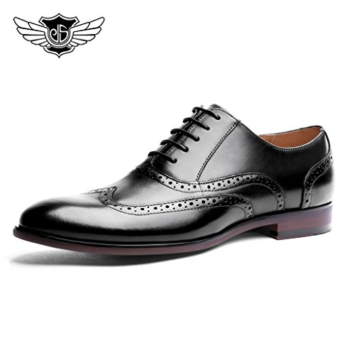 Desai-Mens-Casual-Formal-Business-Lace-Up-Oxfords-Brogues-Real-Leather-shoes-for-Wedding-or-Office-in-BlackBrown