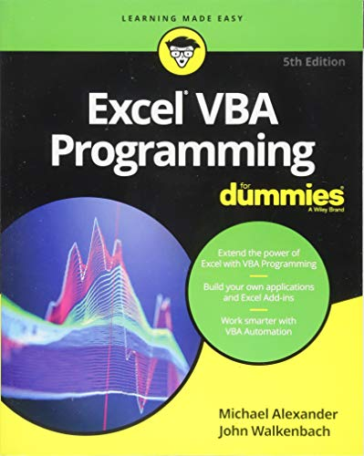 Excel VBA Programming For Dummies por Michael Alexander