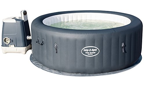 Lay-Z-Spa 54144-BNNX16AB02 196 x 196 x 71 cm Palm Springs HydroJet Hot Tub, Inflatable Spa, 4-6 Person