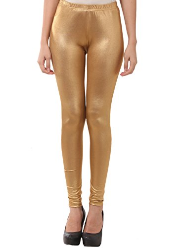 FashGlam Women Shimmer Legging - Dark Golden