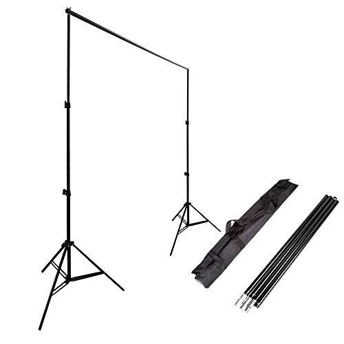 Ruili 2 x 3m Fotostudio Set Hintergrund ständer Hintergrundsystem Kit mit Tragetasche Backdrop Stand für Muslins Hintergrund, Papier and Canvas (Photo Booth Hintergrund)