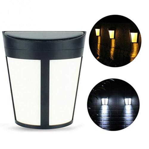 PiniceCore Wasserdicht IP65 Solar-im Freienenergie-Sensor-Licht-Wand-Lampen-Garten-Hof Licht Zaun-Licht-Lampen-Weiß Porch -