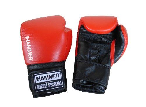 HAMMER - Punch, Guantoni da pugilato, Rosso/Nero, 10 oz