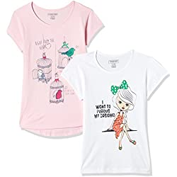Cherokee Girls' T-Shirt (Pack of 2) (272519076_Assorted_13Y_HS)