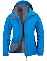 Mountain Warehouse Storm Damen 3 in 1 Regenjacke Warm Wasserdicht Winterjacke Doppeljacke Funktionsjacke mit Fleece-Innenteil