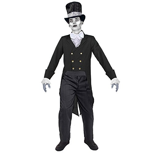 Herren Halloween-Kostüm, Zombie-Bräutigam, Erwachsenengröße (Kostüm Br)