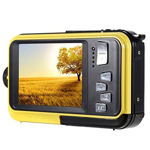 Doppel-Bildschirm-Unterwasserkamera-Wasserdichte Sport-Tauchen-Digital-Videokamera (Farbe: Gelb)