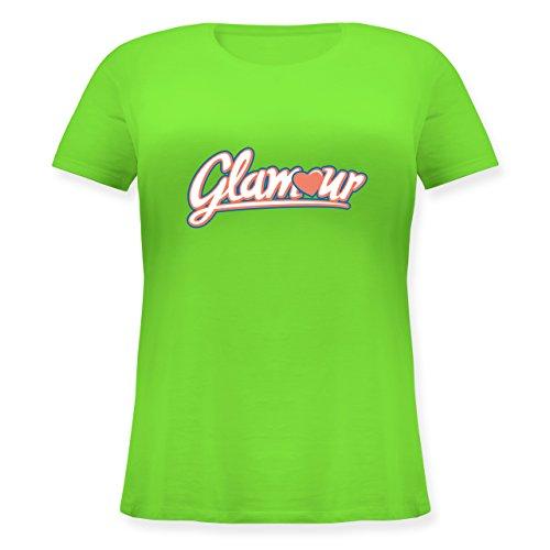 Typisch Frauen - Glamour - XL (50/52) - Hellgrün - JHK601 - Lockeres Damen-Shirt in großen Größen mit (Stagette Kostüm)