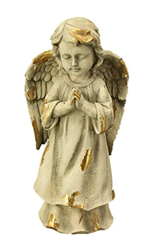 floristikvergleich.de Betender Engel – stehend – goldfinisch – Poly – 2 Stück – beten gebet groß Skulptur Figur Weihnachten Weihnachtsengel Weihnachtsdekoration Deko Dekoration Advent