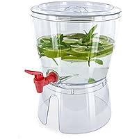 Saveur et Degustation-Dispenser di bevande KV7134, in plastica, colore: rosso/verde/bianco, 23,7 x 23,7 x 31,5 cm 5,3 L