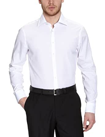Jacques Britt Herren Businesshemd Slim Fit 20.969510 Bob, Gr. 38 (S), Weiß (01 - white)