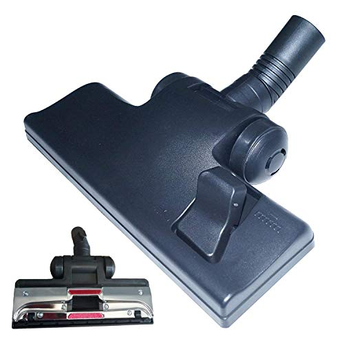 Universal Staubsauger-Bürste mit Kippgelenk und 4 Rollen, Kombi-Bodendüse 35 mm Rohr - mit umschaltbarem Bürstenkranz, passendes für handelsübliche Bodensauger mit 35mm Teleskop-Rohr Anschluss