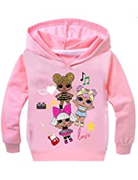 Socluer Unisex L.O.L Surprise Impresión 3D Sudadera con Capucha para Niñas Camisetas Dolls Cartoon Game Tops Girl's