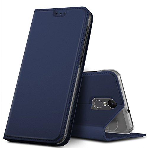 GeeMai Gigaset GS180 Hülle, Premium Gigaset GS180 Leder Hülle Flip Case Tasche Cover Hüllen mit Magnetverschluss [Standfunktion] Schutzhülle handyhüllen für Gigaset GS180 Smartphone, Blau
