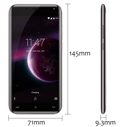 Cubot Magic 4G Smartphone  Android 7 0 MT6737 Quad Core Rear Dual Cameras 3GB RAM  16GB ROM 5 0 Inch HD Curved Display  Oro