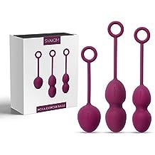 SVAKOM Nouvelle Mode 3 Packs Kegel Exerciseur Kit de Formation Boule de Geisha Massage Pour Contrôle de La vessie et Amélioration intimité-Silicone Appareil Profonde Pour Les Exercices de Kegel,Vaginale Tight Exercice,Débutant (violet)