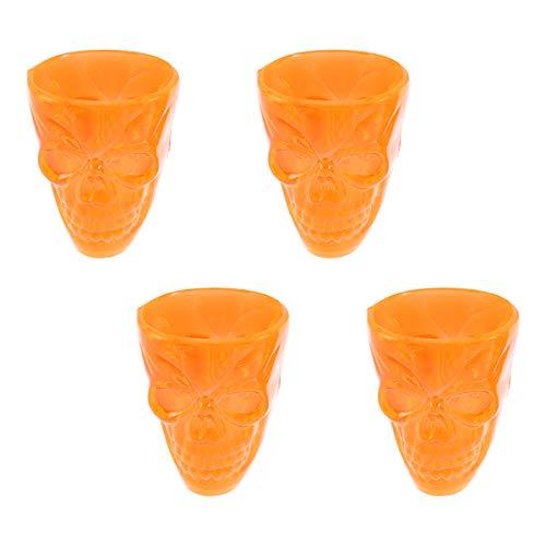 Amosfun 4 stücke Kunststoff Party Tasse Halloween Schädel Muster Wein Tasse Halloween Party Tassen Toasten Glas für Party Decor