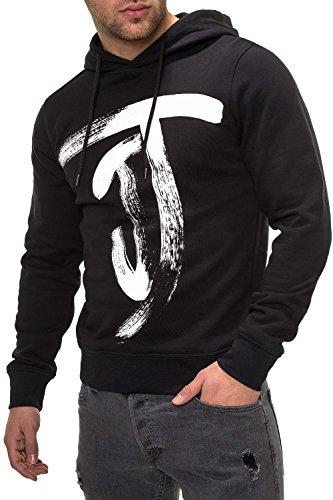 JACK & JONES Herren Hoodie Kapuzenpullover Sweatshirt (XL, Black)