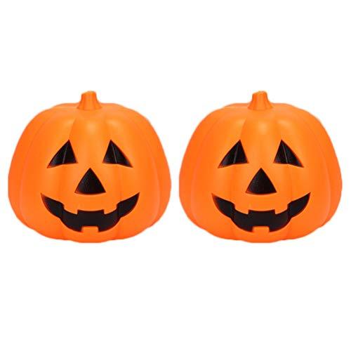 Mobestech 2 Stück Halloween Kürbis Laterne Jack-o-Laterne Indoor Outdoor Dekoration