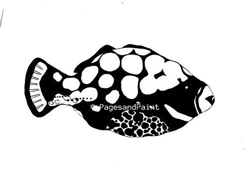 Natur Kunstdruck Tropischer Fisch - Natur Gemälde, Landschaft, Tier, Biologische Zeichnung, Natur Kunst, Dekoration