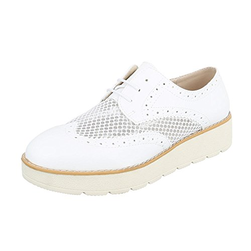 Ital-design Stringate Donna Scarpe Stringate Oxford Stringate Bianco 62015