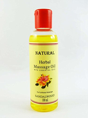 Huile de massage Santal Natural Herbal Avec huile essentielle pour 100 ml Full Body