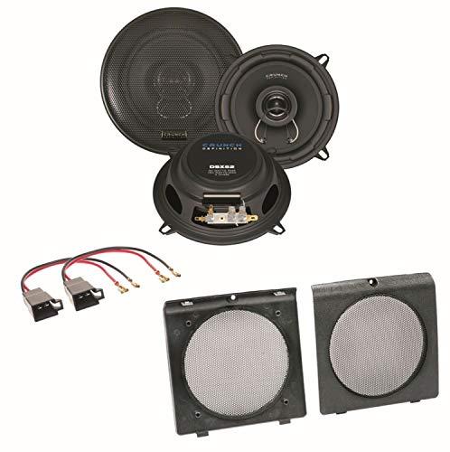 Crunch DSX52 2-Wege Koaxial Lautsprecher Boxen System Einbauset für Golf 2 vordere Türen 2-wege-koaxial-lautsprecher