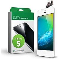 Kit completo de reemplazo de pantalla GIGA Fixxoo iPhone 5 LCD blanco; con TouchScreen, Cristal Retina Display, cámara y sensor de proximidad - Fácil instalación y reparación guiada DIY