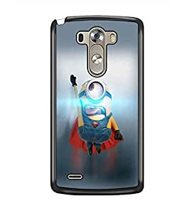 PrintDhaba Flying Minion D-2184 Back Case Cover for LG G3 (Multi-Coloured)