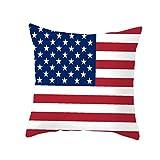 Bandera Americana Día de la Independencia de Almohada 4 º de Julio de la Almohadilla los 45 * 45cm Fiesta de cumpleaños de la Cubierta de la decoración Las Americana Aniversario