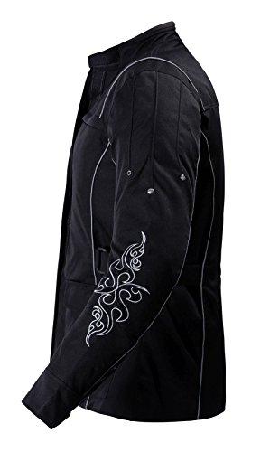 1509 Bangla Damen Motorrad Jacke Bikerjacke Textil schwarz mit Tribalmuster Gr. S - 2