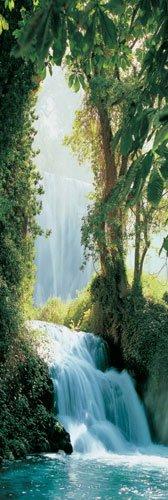 Unbekannt Poster Zaragoza Wasserfall Türposter - Größe 53 x 158 cm - Jumboposter