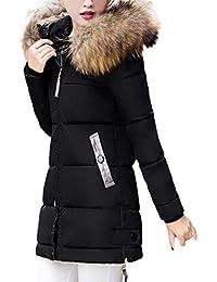 Parka Damen Fashion Elegante Winter Daunenmantel Mit Kunstpelzkapuze  Langarm Unikat Style Slim Fit Verdicken Warme Steppjacke… 3e15b5a35d