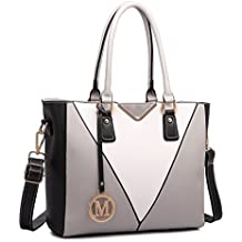 Miss Lulu Leather Look V-Shape Shoulder Handbag Elegant Design Top Handle Fashion Handbags for Women