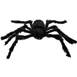 Almatess Halloween Decoration Virtual Realistic Hairy Spider, Black