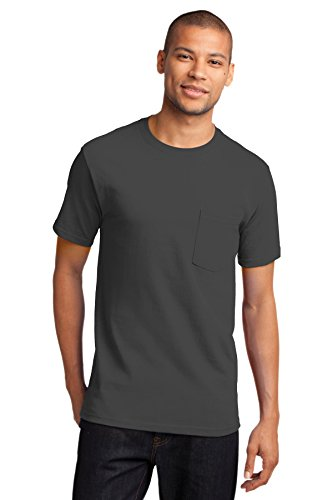 Port & Company® - Essential Pocket Tee. PC61P Charcoal L