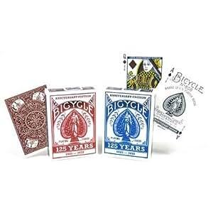 Mazzo di Carte Bicycle 125 Year Anniversary Deck dorso rosso - Mazzi Bicycle - Carte da gioco - Giochi di Prestigio e Magia
