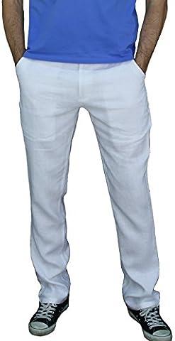 Pantalon Toile Garcon - MLP010 Messieurs garçons lin pantalon de toile