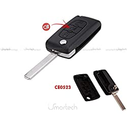 Coque CLE pour telecommande CITROEN C2 C3 C5 C6 C4 Picasso pliable 3 boutons