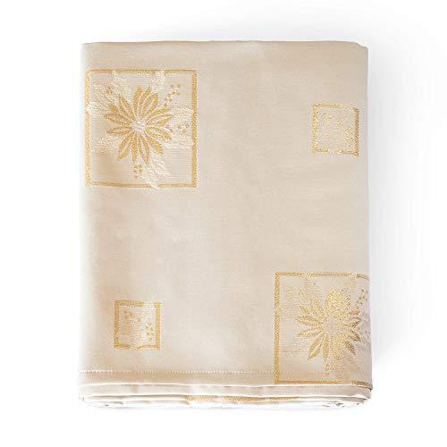 Mantel elegante diseño navideño tratamiento antimanchasReferencia:
