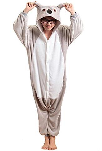 Honeystore Unisex Flannel Hoodie Jumpsuit Pyjamas Trickfilm Cosplay Kostüm Pyjamas S Grau (Gute Halloween-kostüme Für Gruppe 3)