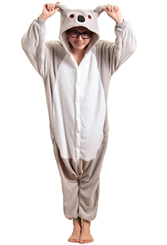 Honeystore Unisex Flannel Hoodie Jumpsuit Pyjamas Trickfilm Cosplay Kostüm Pyjamas XL Grau