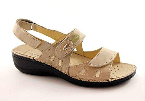 GRUNLAND DARA SE0038 beige sandali donna fibbie plantare estraibile Beige