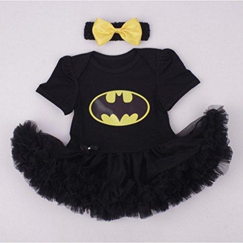 Batgirl, Kostüm 2teilig Baby 3bis 24Monate 6/9Monate, 12Monate, 0/3Monate, (Kostüm Batgirls)