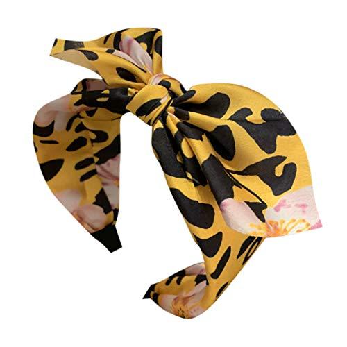 Younthone❤❤Kopfband Haarspange,Damen Leopard Bow Knoten Bandbreite Seite Kopfschmuck Accessoires Stirnband speciales neues Design für Damen Haarschmuck für Mädchen (Beliebtesten Halloween-kostüme 10)