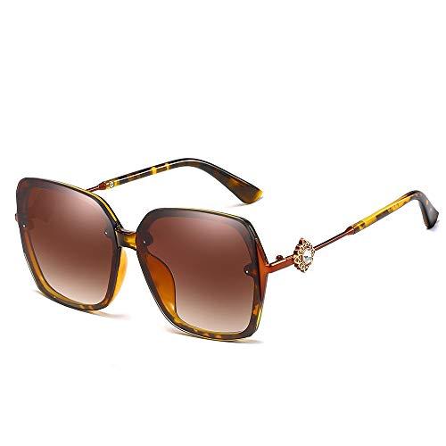 Aviator Sonnenbrillen der Frauen übergroße Schutzspiegel-Sonnenbrille der Art und Weise UV400 Brille (Farbe : NO.2, Größe : Free Size)