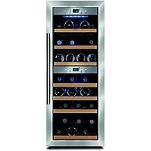 Caso WineMaster38 - Enfriador de vino (Independiente, 5 - 22 °C, Acero inoxidable, Negro, LED, Derecho)