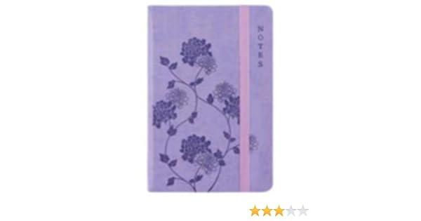 A5 ou poche Surface douce Cadre EasyNote violet fleurs Carnet dirig/ée doubl/é Pocket Size